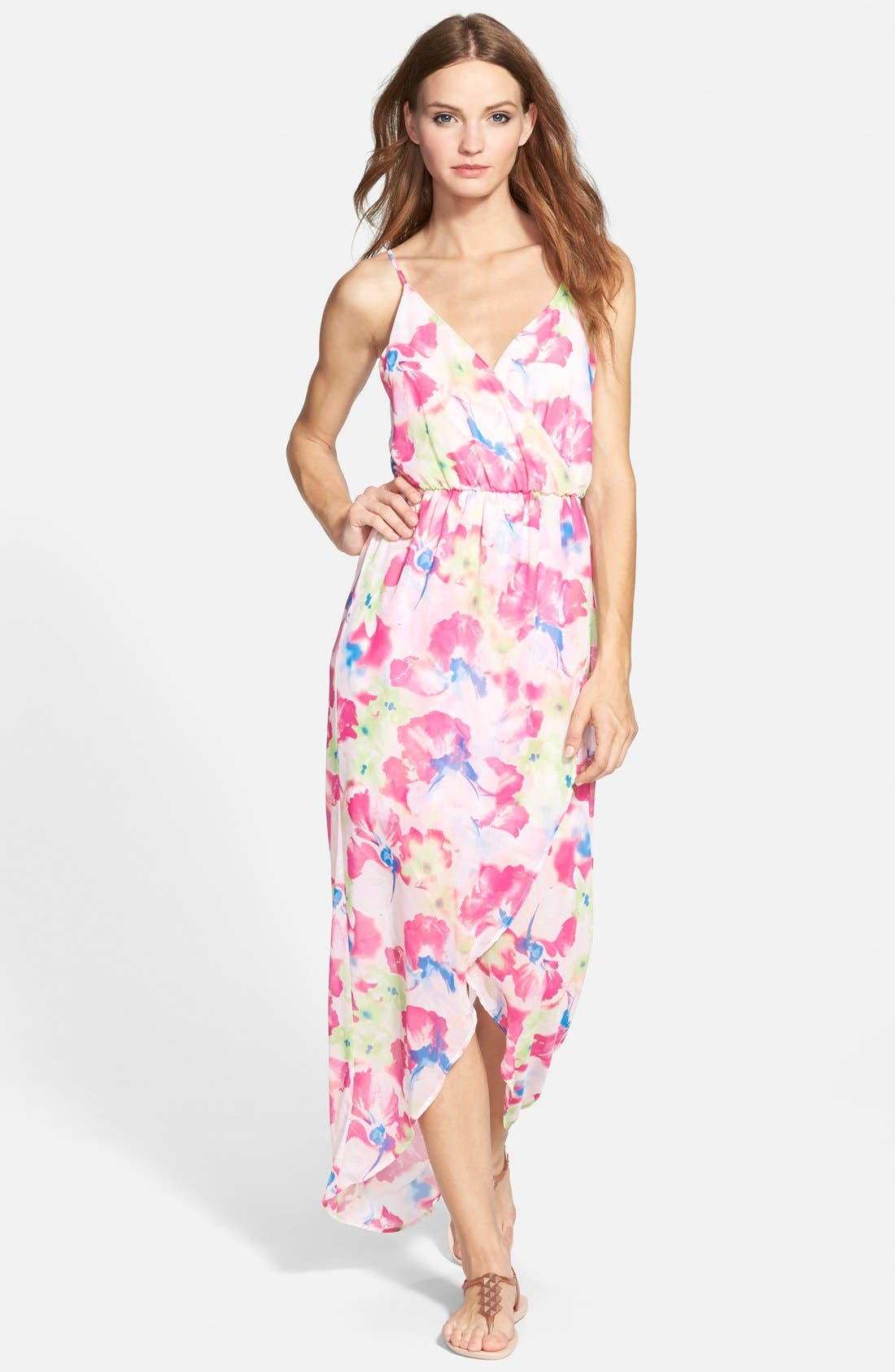 Alternate Image 1 Selected - Lush Tulip Hem Maxi Dress