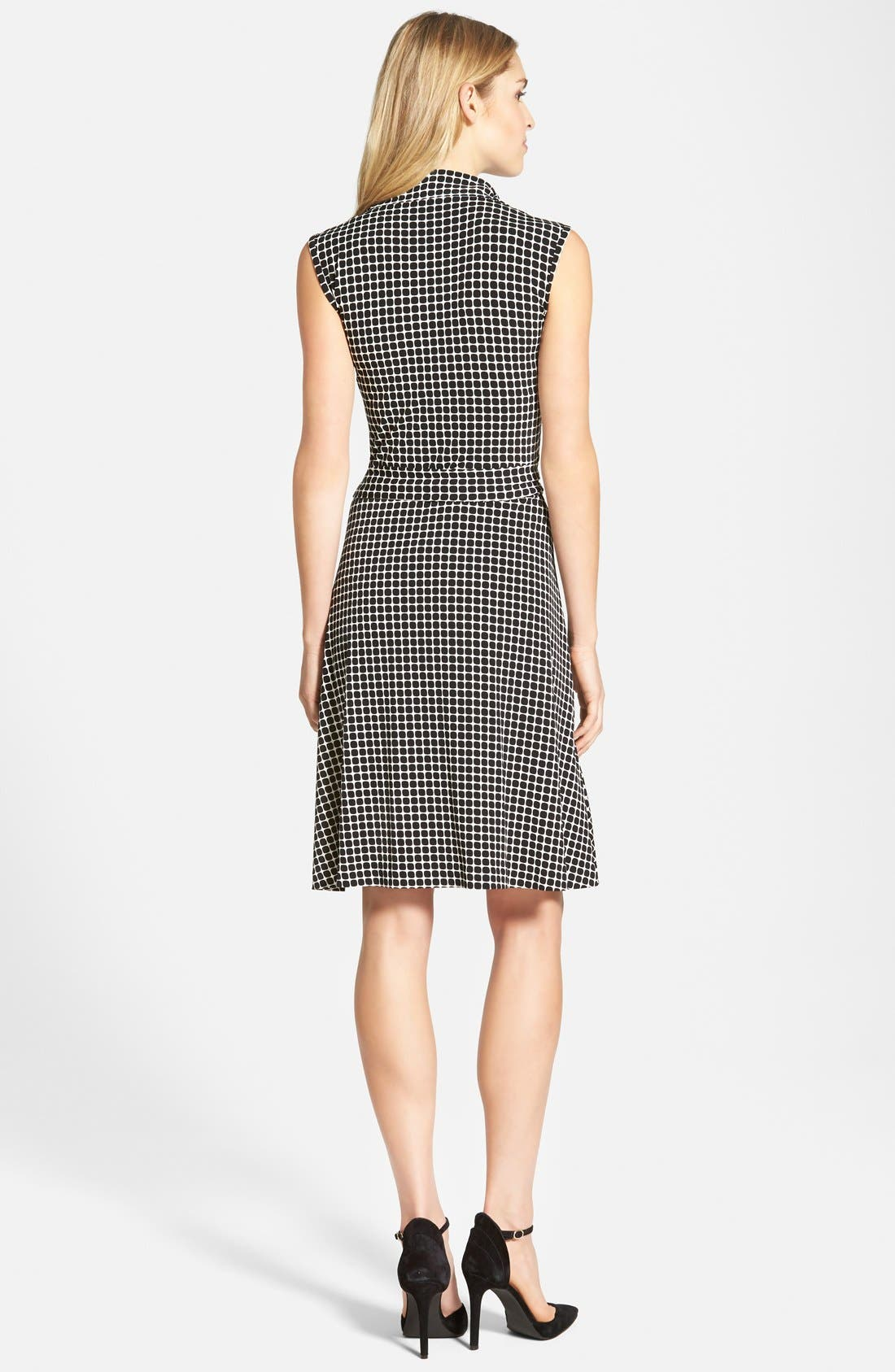 Alternate Image 2  - Vince Camuto 'Graphic Boxes' Sleeveless Wrap Dress (Regular & Petite) (Nordstrom Online Exclusive)