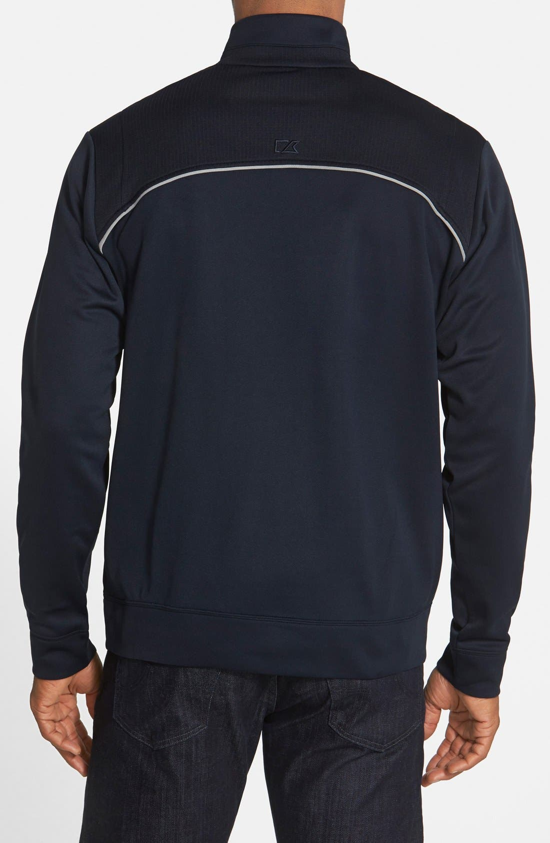 Ridge WeatherTec Wind & Water Resistant Pullover,                             Alternate thumbnail 3, color,                             Navy Blue