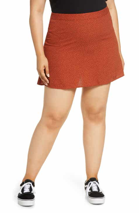 BP. Print Mini Skater Skirt (Plus Size)