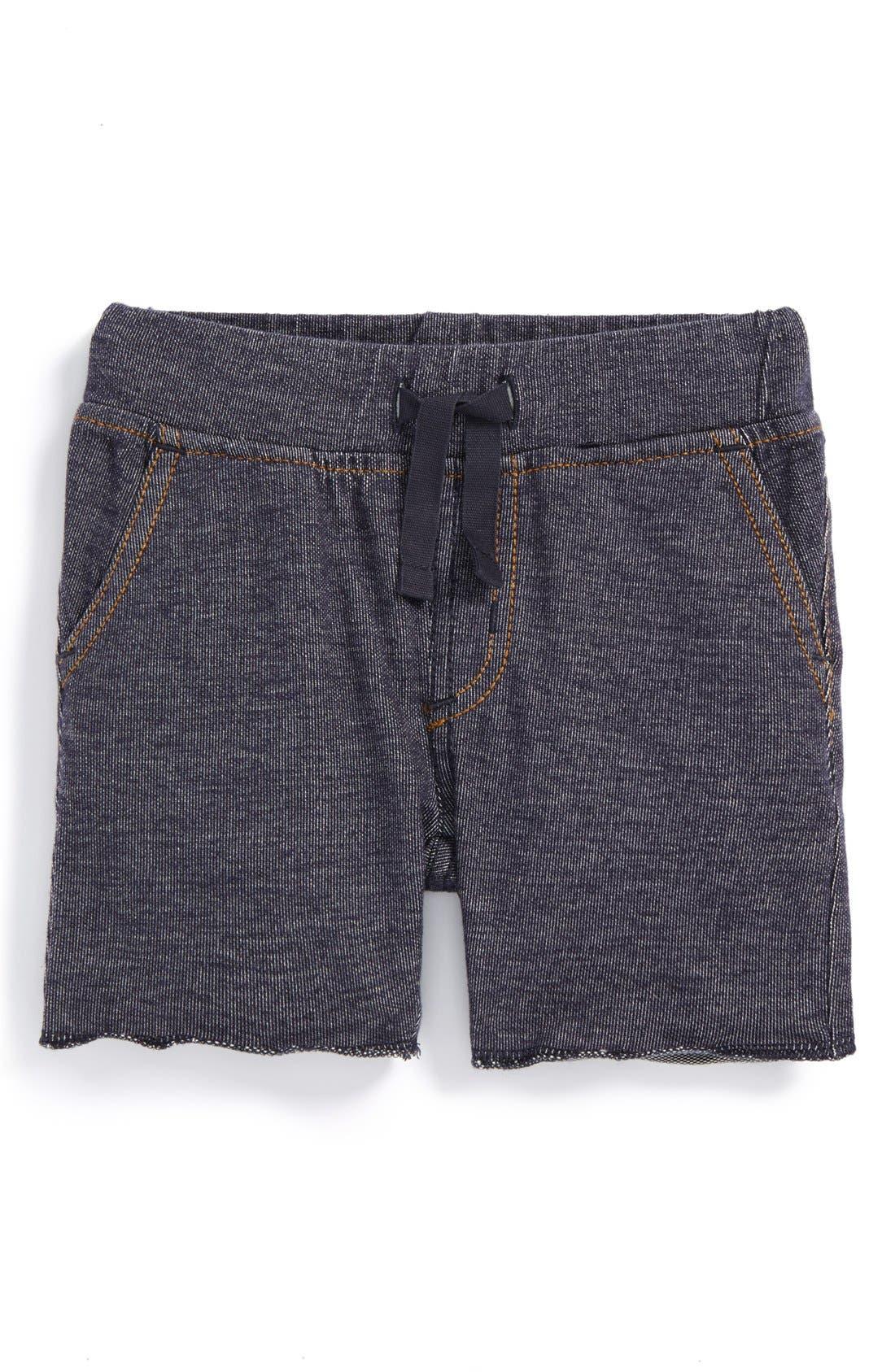 Denim Look Shorts,                             Main thumbnail 1, color,                             Indigo