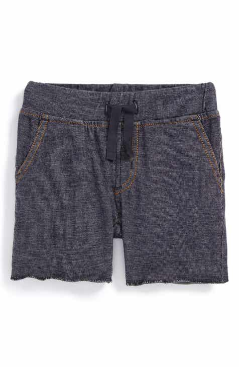 Tea Collection Denim Look Shorts (Toddler Boys & Little Boys)