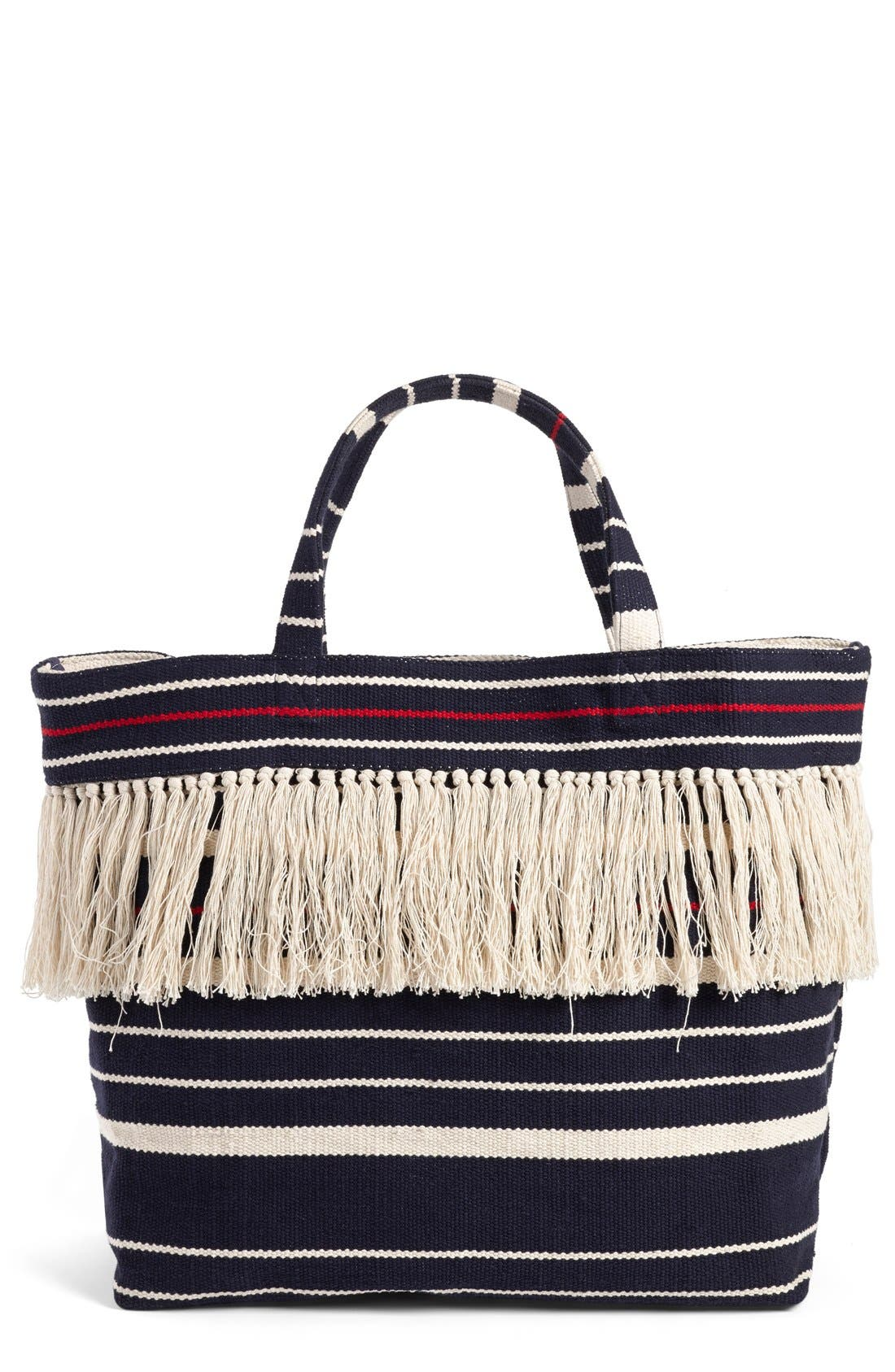 Alternate Image 1 Selected - Madewell Woven Fringe Beach Tote