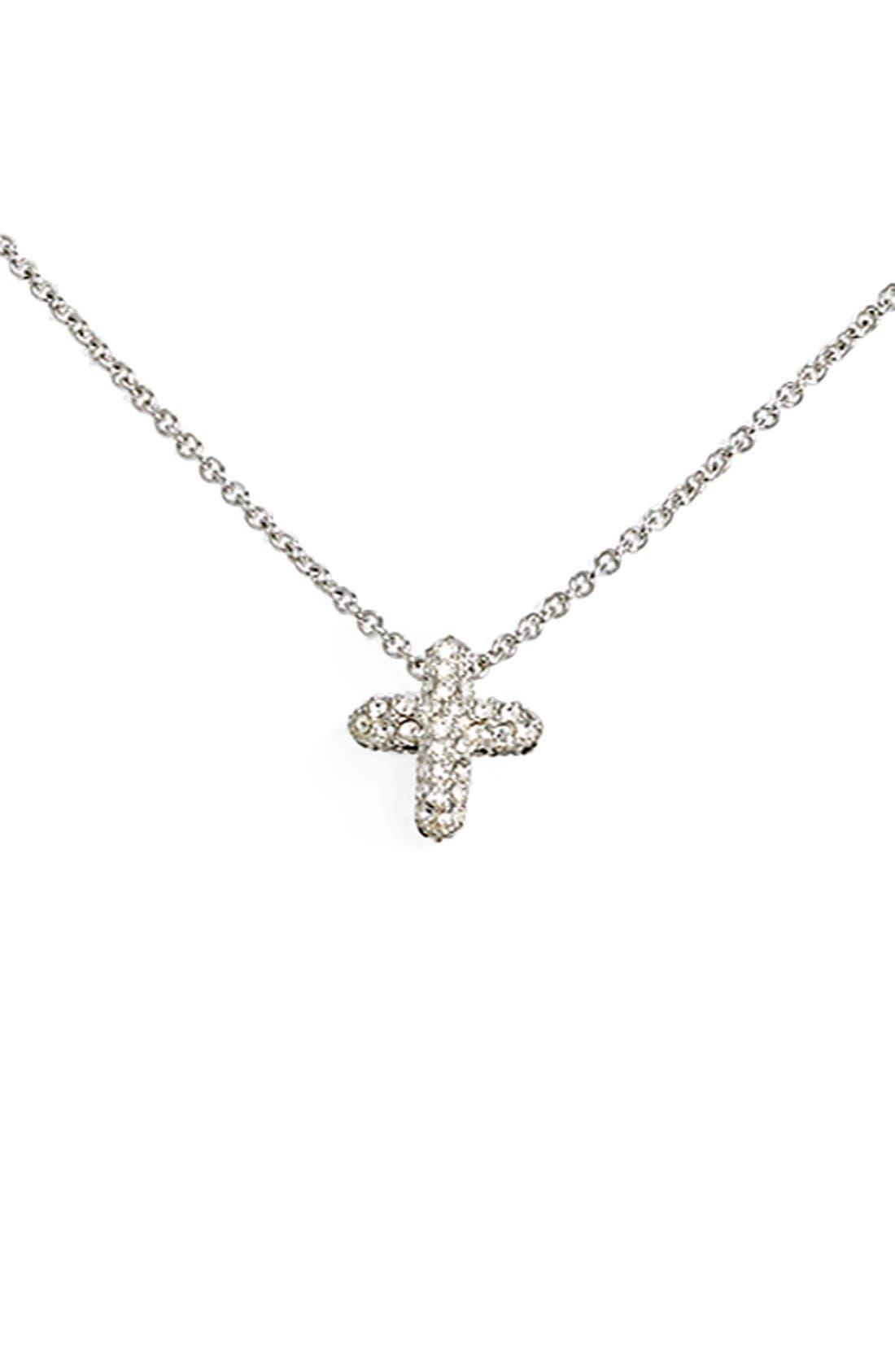 Main Image - Judith Jack Reversible Pavé Cross Pendant Necklace