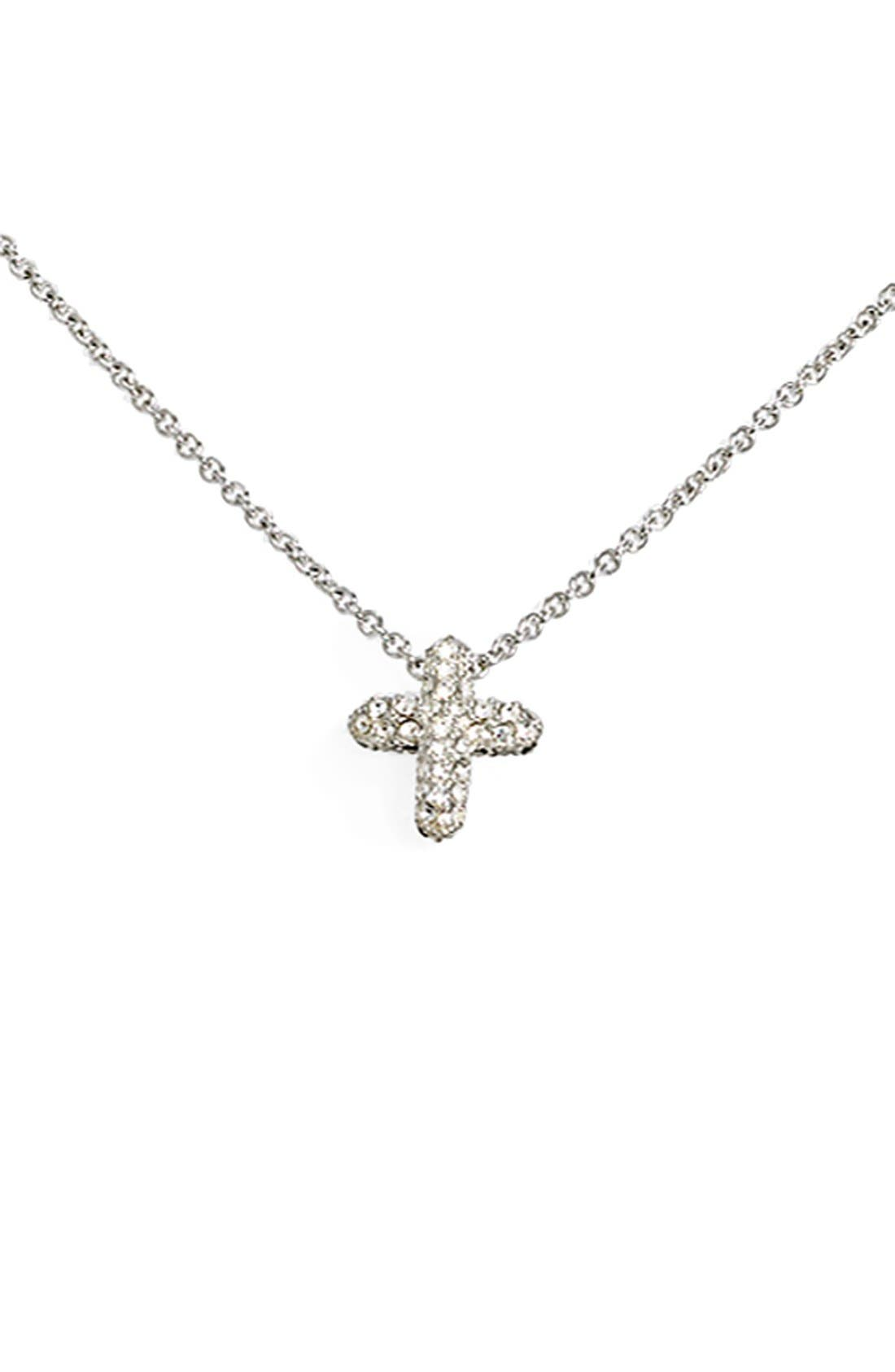 Reversible Pavé Cross Pendant Necklace,                         Main,                         color, Cross
