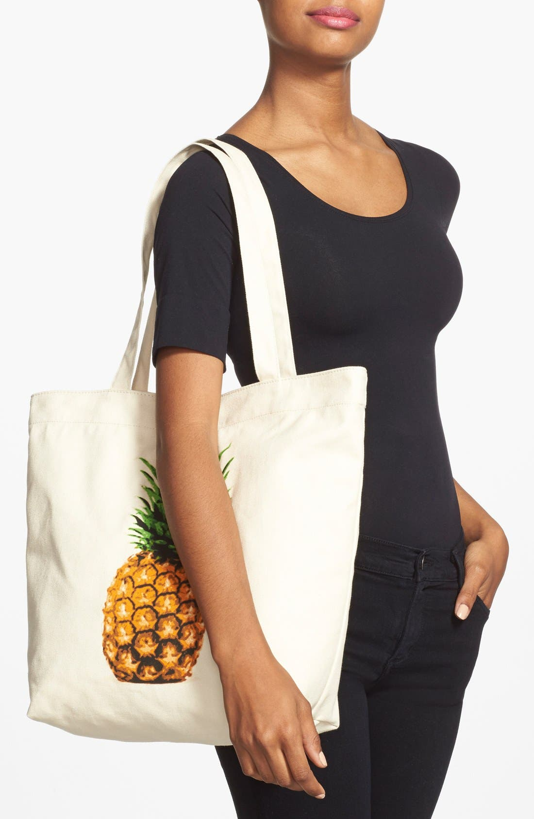 Alternate Image 2  - BP. Printed Canvas Tote