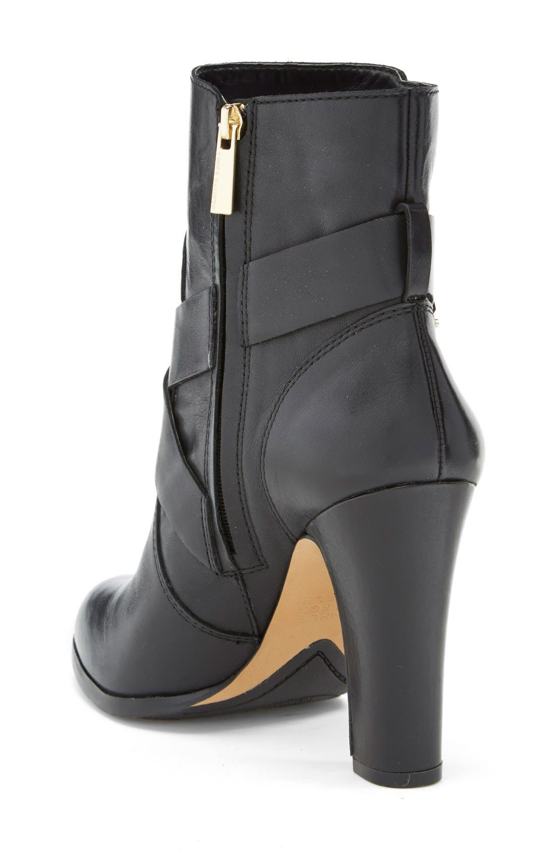 'Connolly' Belted Boot,                             Alternate thumbnail 2, color,                             Black Leather