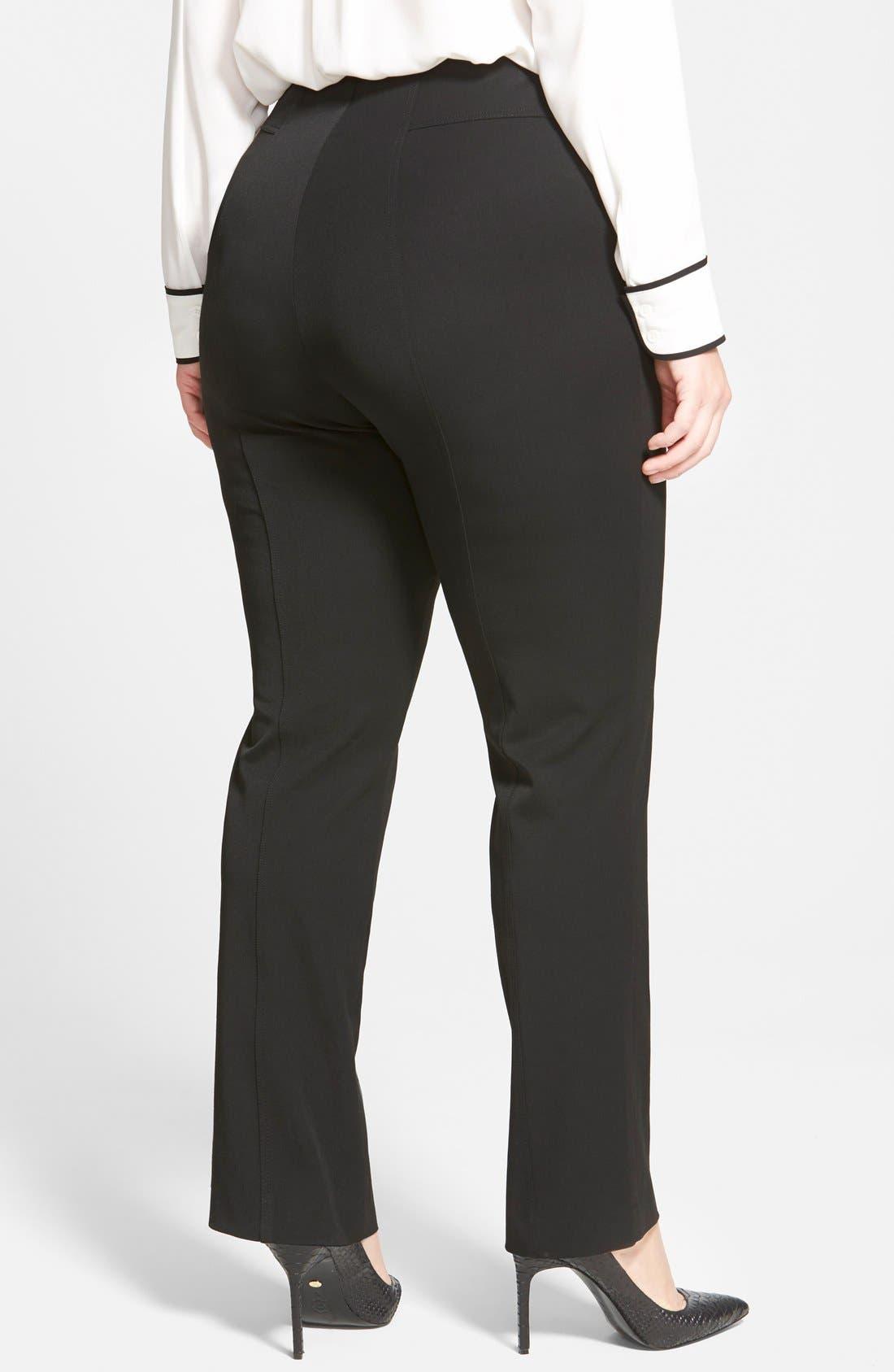 Alternate Image 6  - Vince Camuto Seam Detail Pants (Plus Size)