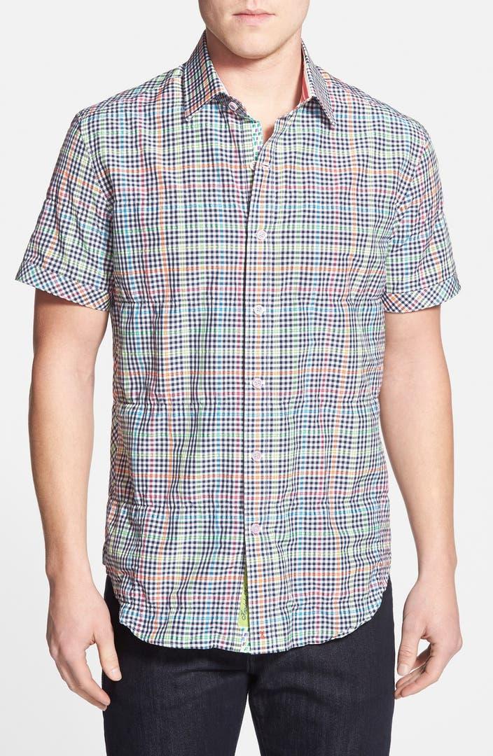 Robert graham 39 x collection hot spot 39 tailored fit short for Robert graham sport shirt