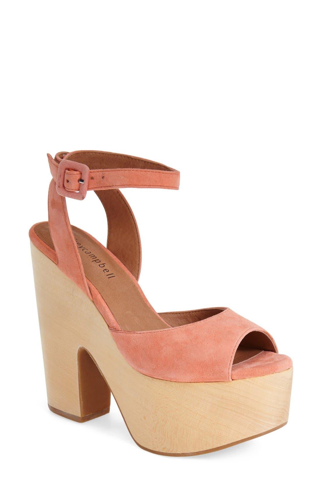 Alternate Image 1 Selected - Jeffrey Campbell 'Sassy' Wood Platform Sandal (Women)