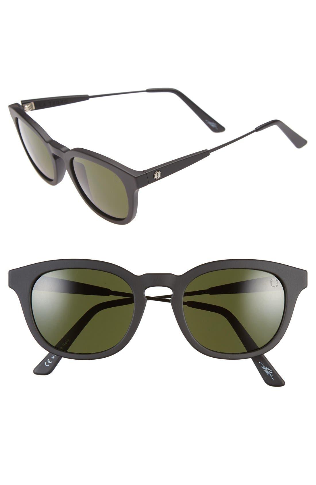 'La Txoko' 49mm Sunglasses,                         Main,                         color, Matte Black/ Grey