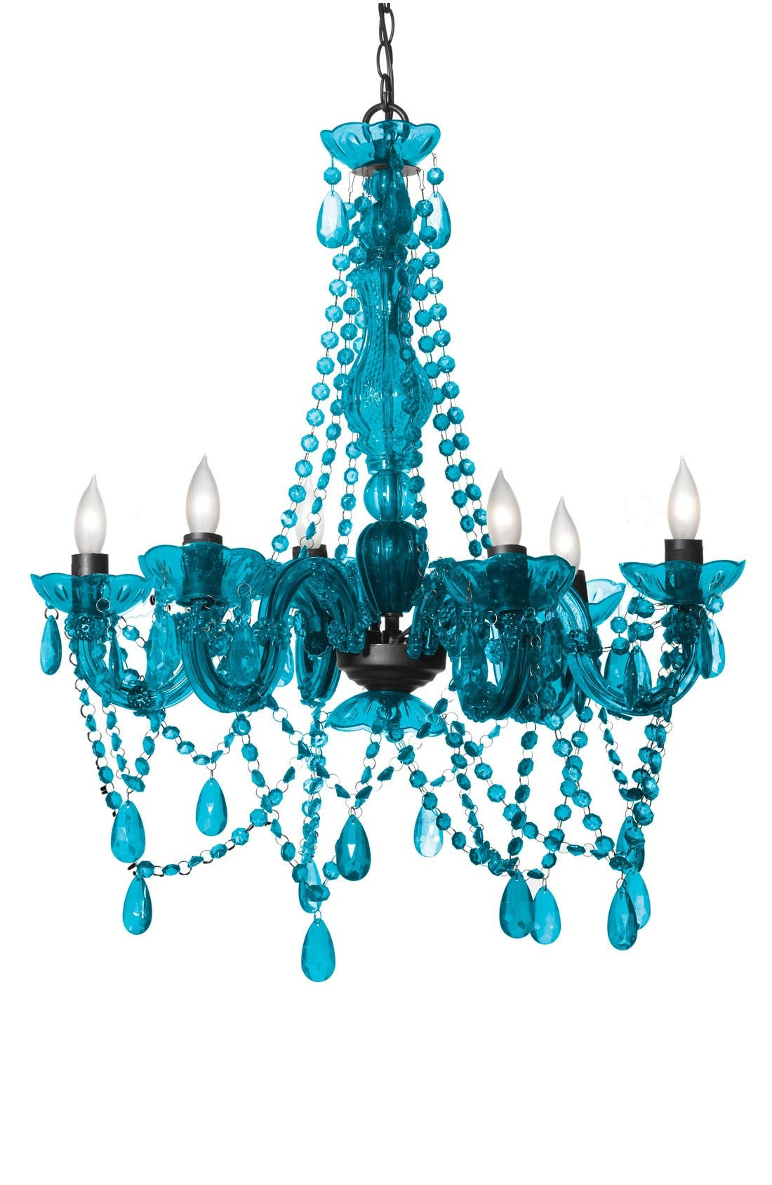 Chandelier,                             Main thumbnail 1, color,                             Turquoise
