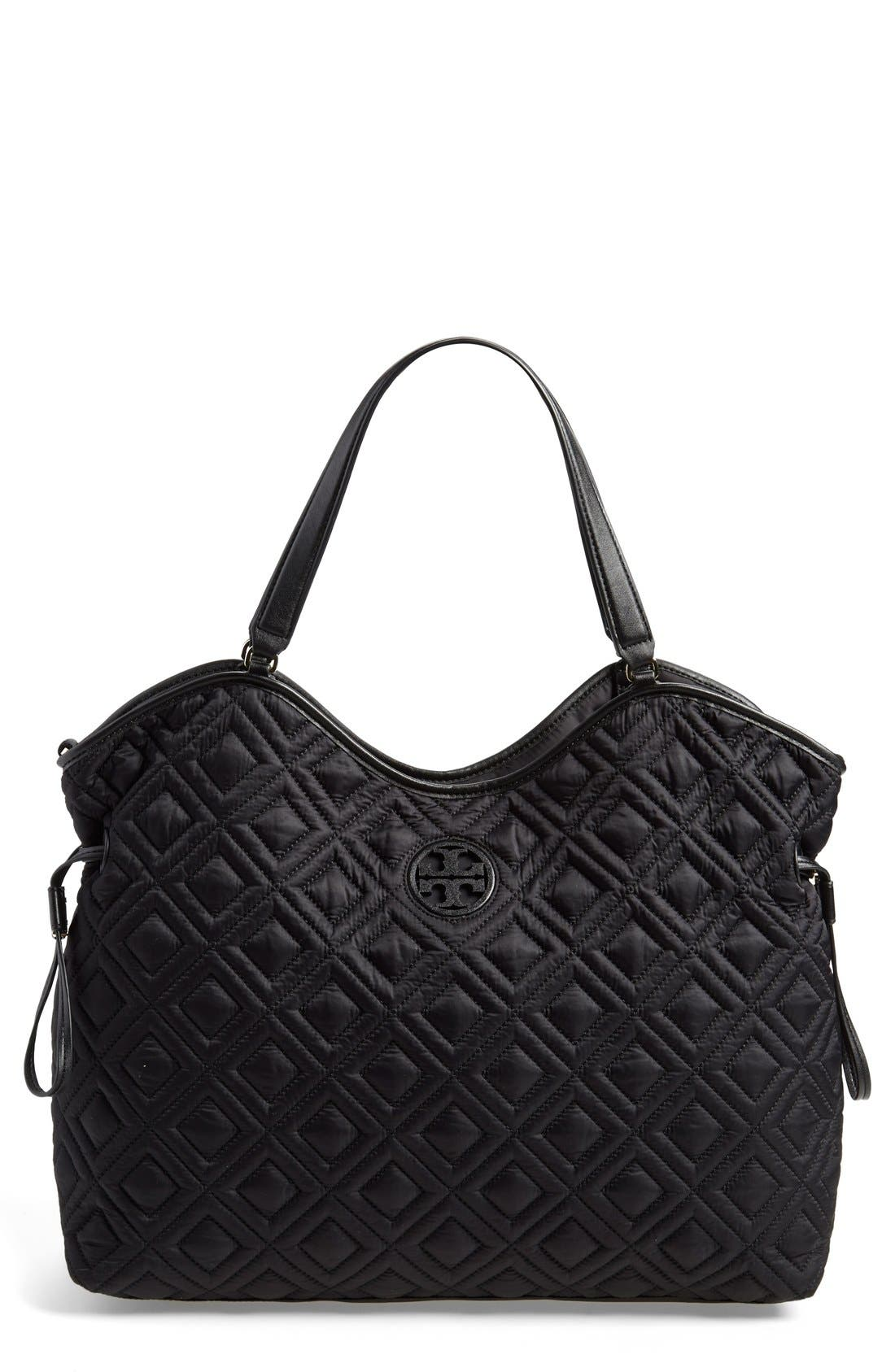 Main Image - Tory Burch Quilted Slouchy Baby Bag