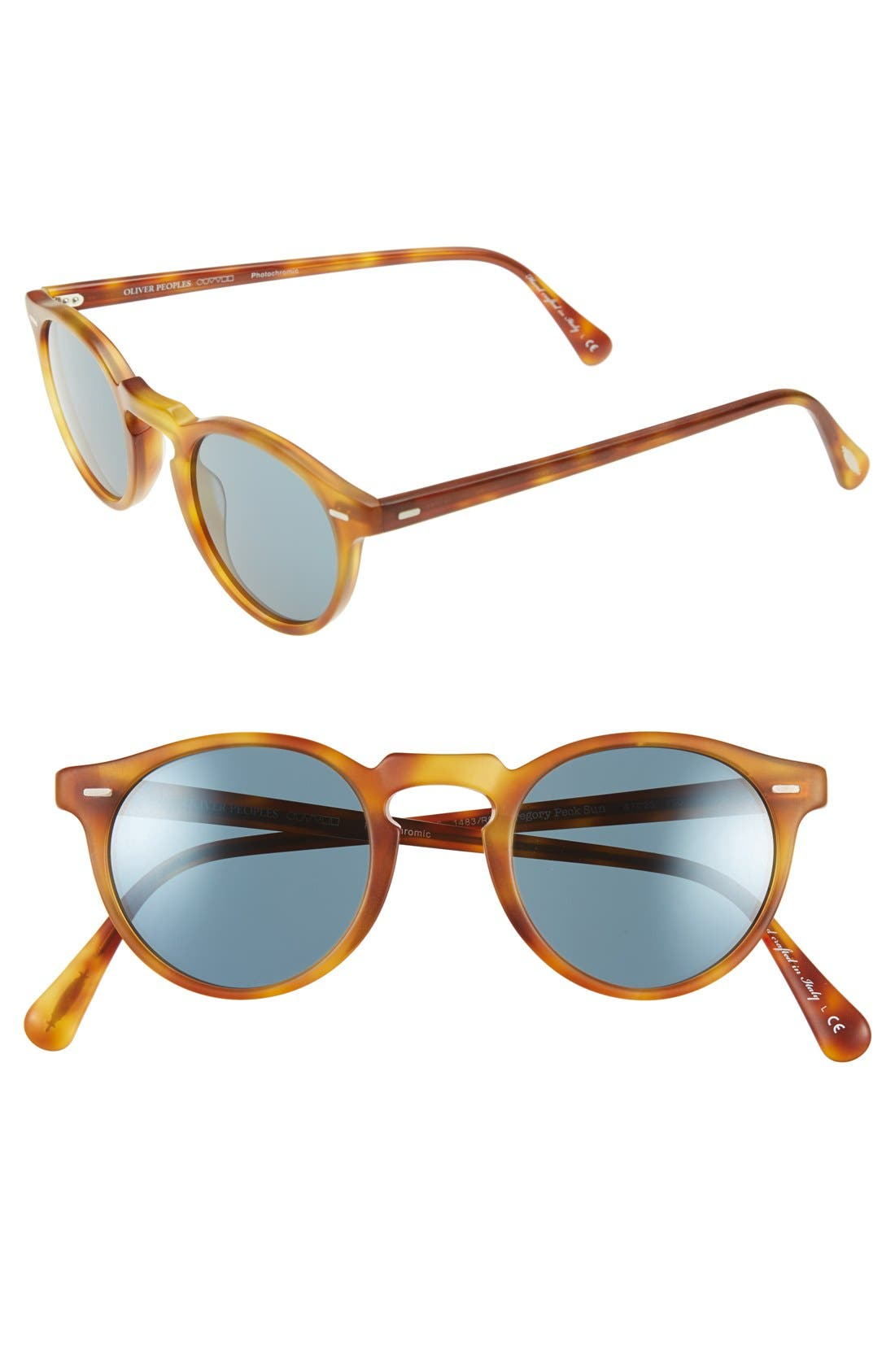 Alternate Image 1 Selected - Oliver Peoples 'Gregory Peck' 47mm Retro Sunglasses