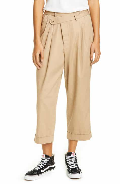 R13 Pleated Crossover Pants