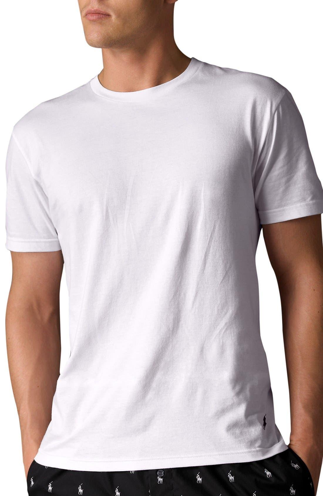 2-Pack Crewneck T-Shirt,                         Main,                         color, White/ White