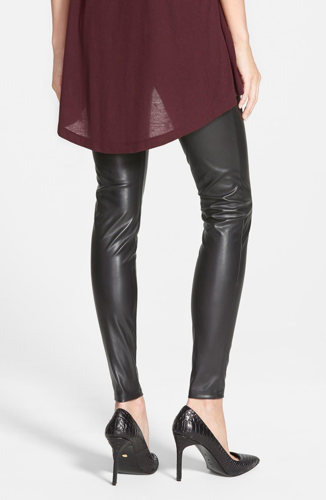 Alternate Image 2  - Leith Faux Leather Leggings