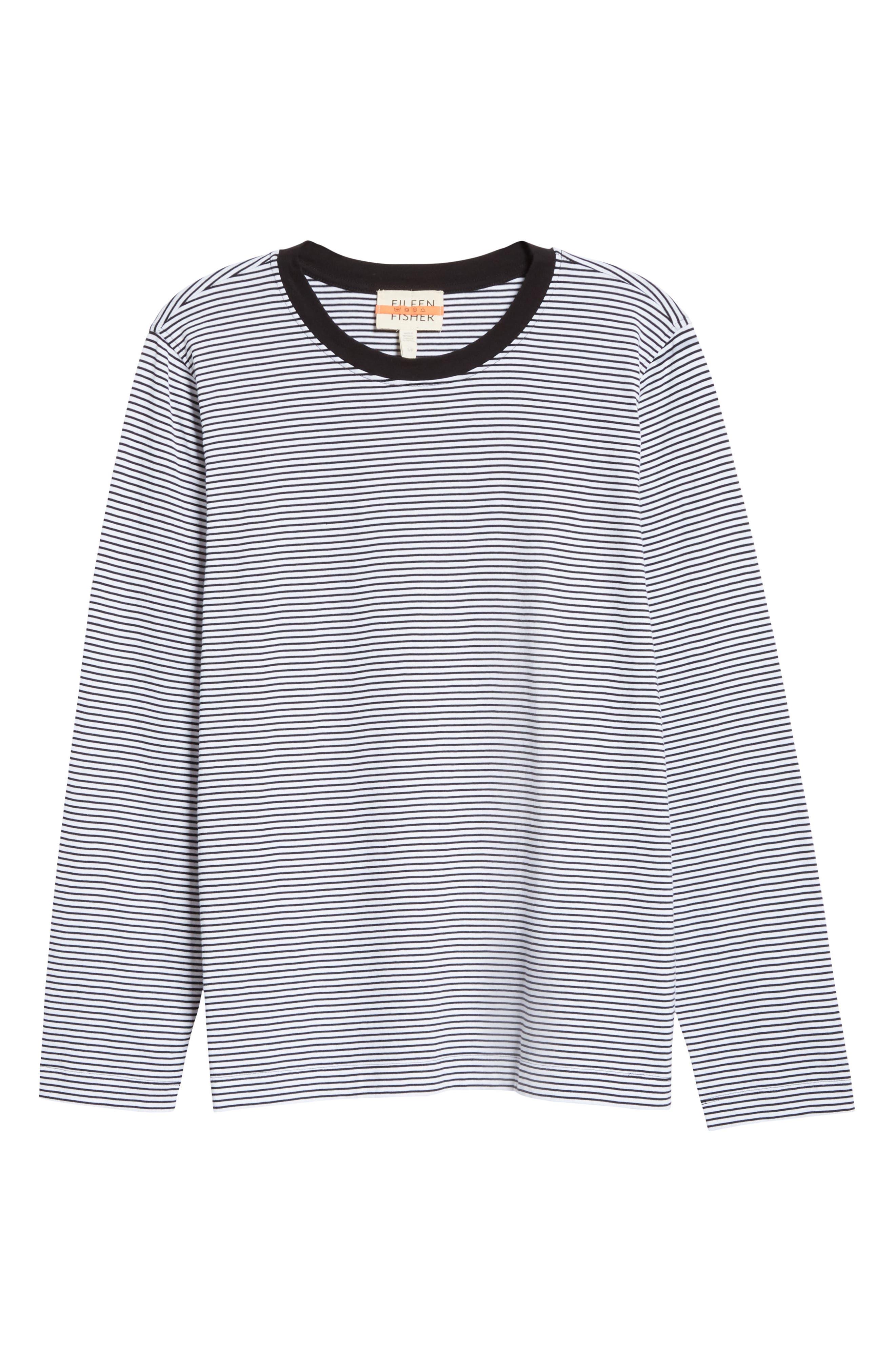 Eileen Fisher White Organic Cotton Henley Cap-Sleeve Top Tee  Plus Size 1X 2X