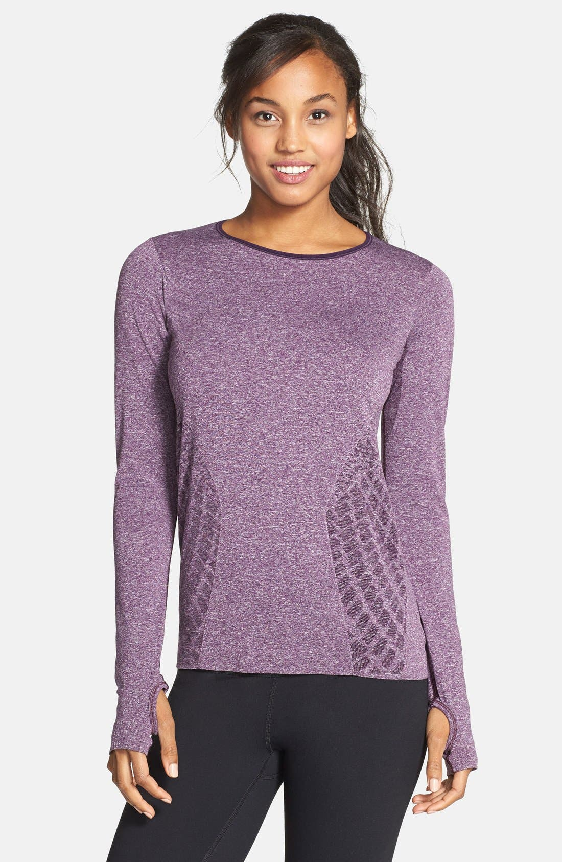 'Made for Movement' Seamless Long Sleeve,                         Main,                         color, Asteroid