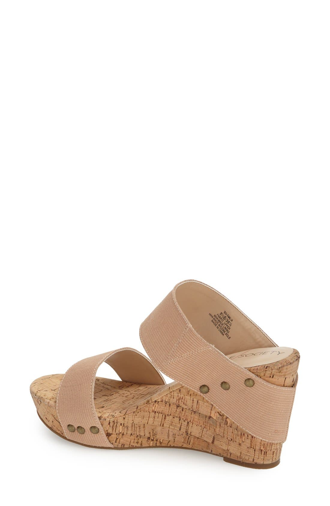 'Emilia 2' Wedge Sandal,                             Alternate thumbnail 2, color,                             Blush Champagne