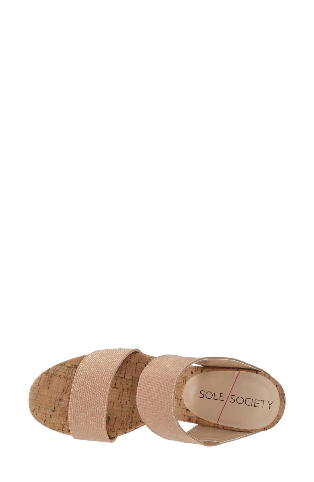 'Emilia 2' Wedge Sandal,                             Alternate thumbnail 4, color,                             Blush Champagne