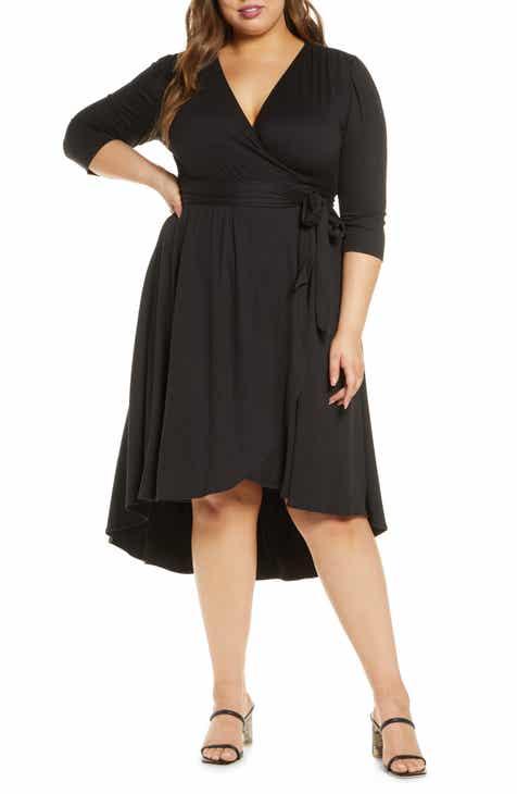 Kiyonna Winona High/Low Wrap Dress (Plus Size)