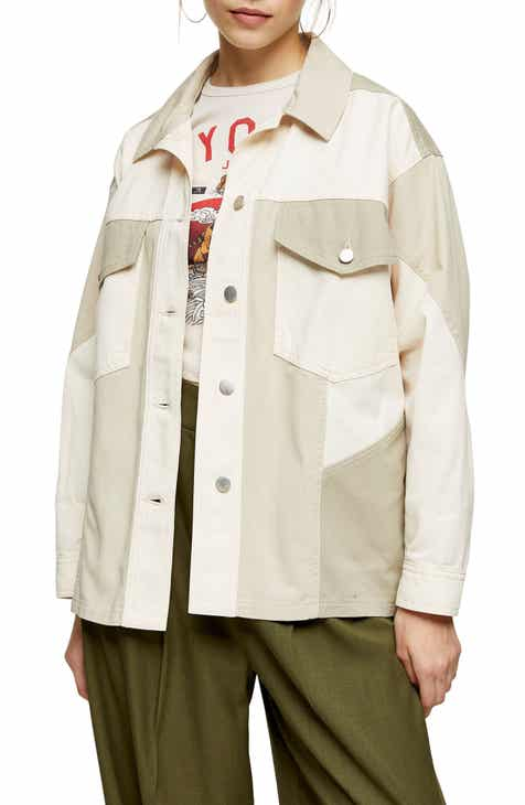 Topshop Matty Panel Shirt Jacket
