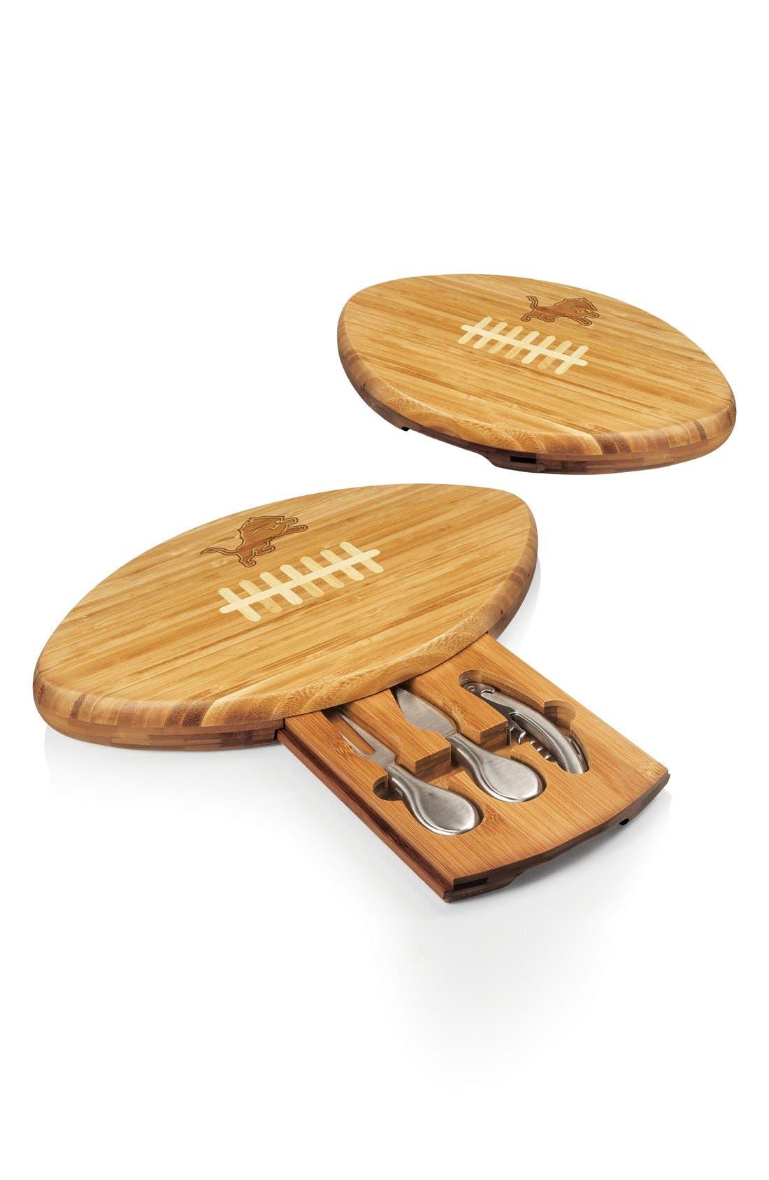 Alternate Image 2  - Picnic Time 'Quarterback' NFL Engraved Cutting Board & Knives