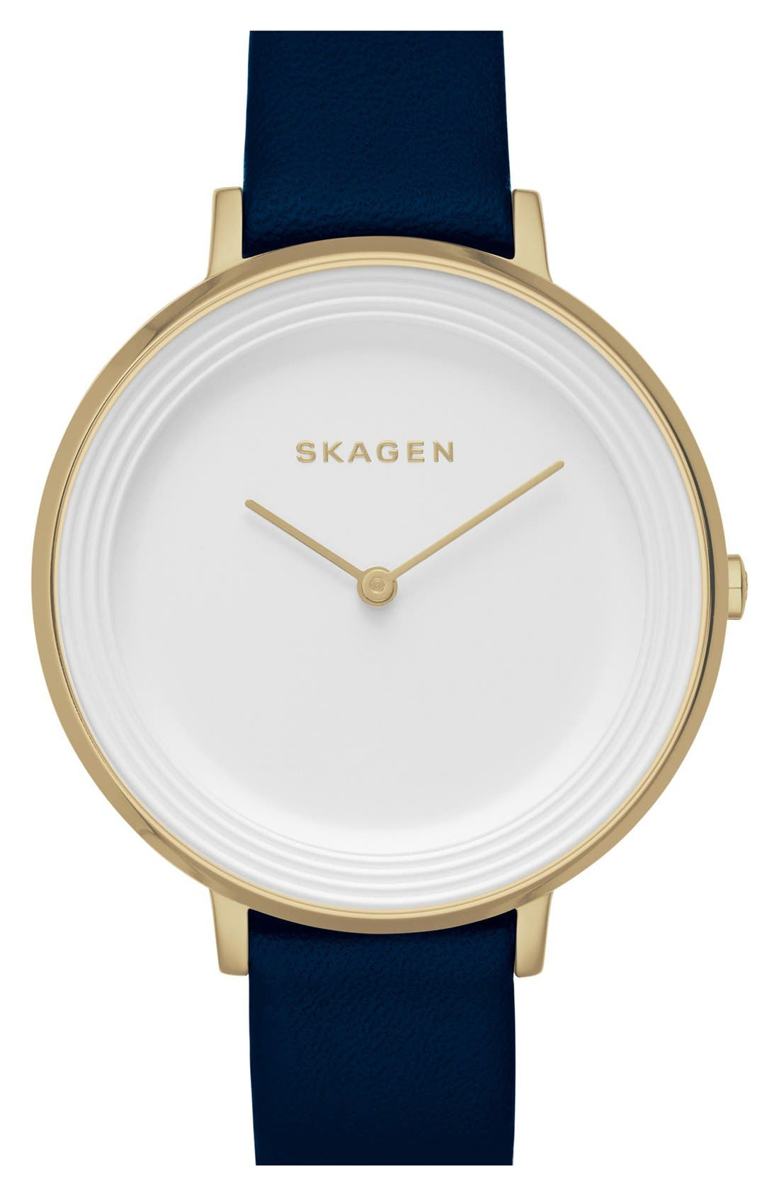 Alternate Image 1 Selected - Skagen 'Ditte' Round Textured Dial Watch, 37mm (Nordstrom Exclusive)