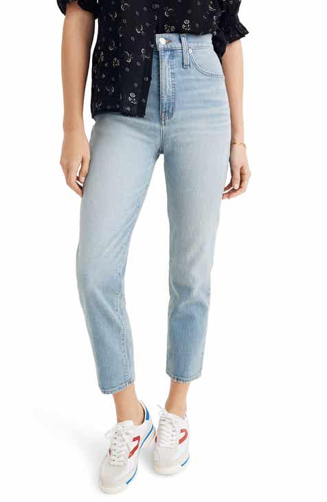Madewell Classic Crop Straight Jeans (Meadowland) (Regular & Plus Size)