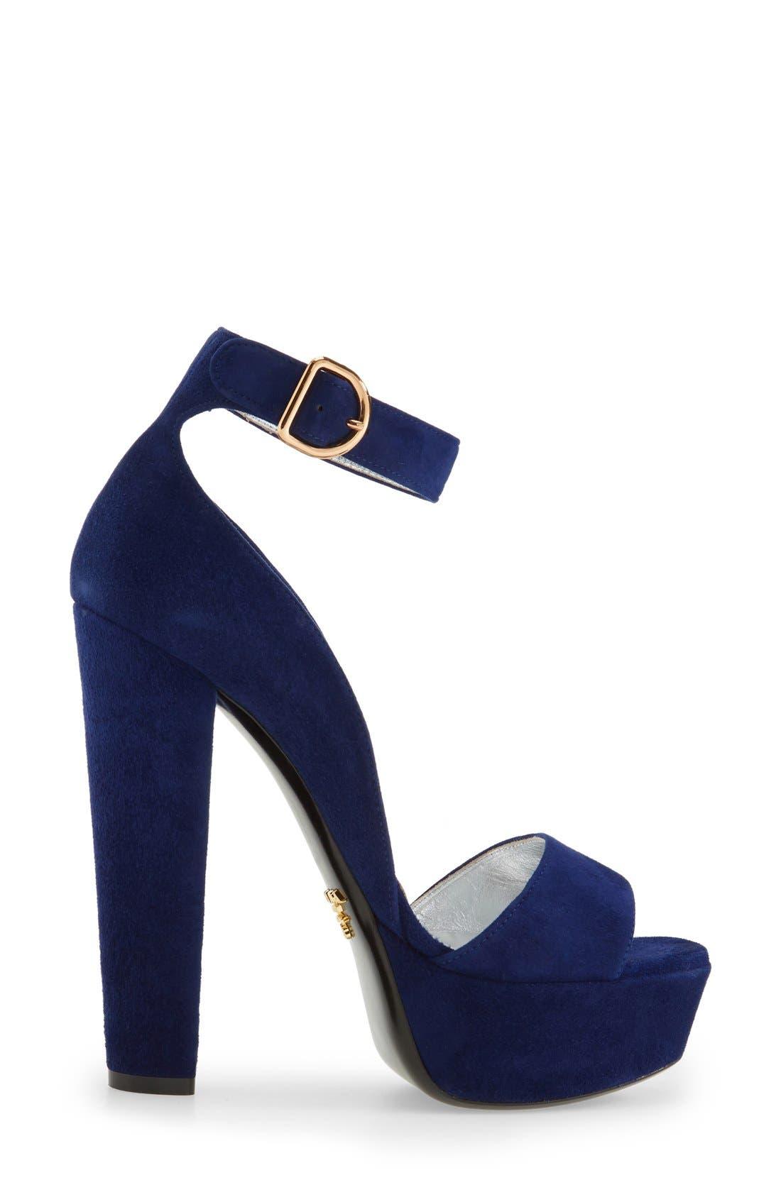 Alternate Image 4  - Prada Chunky Heel Sandal (Women)