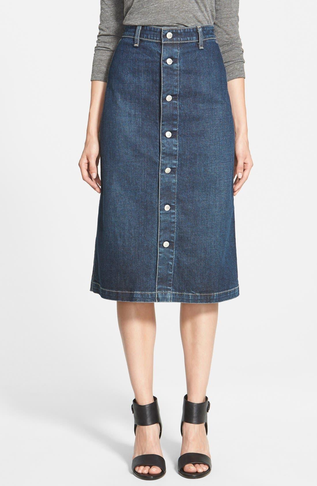 Alexa Chung For Ag Cool Denim Skirt Nordstrom
