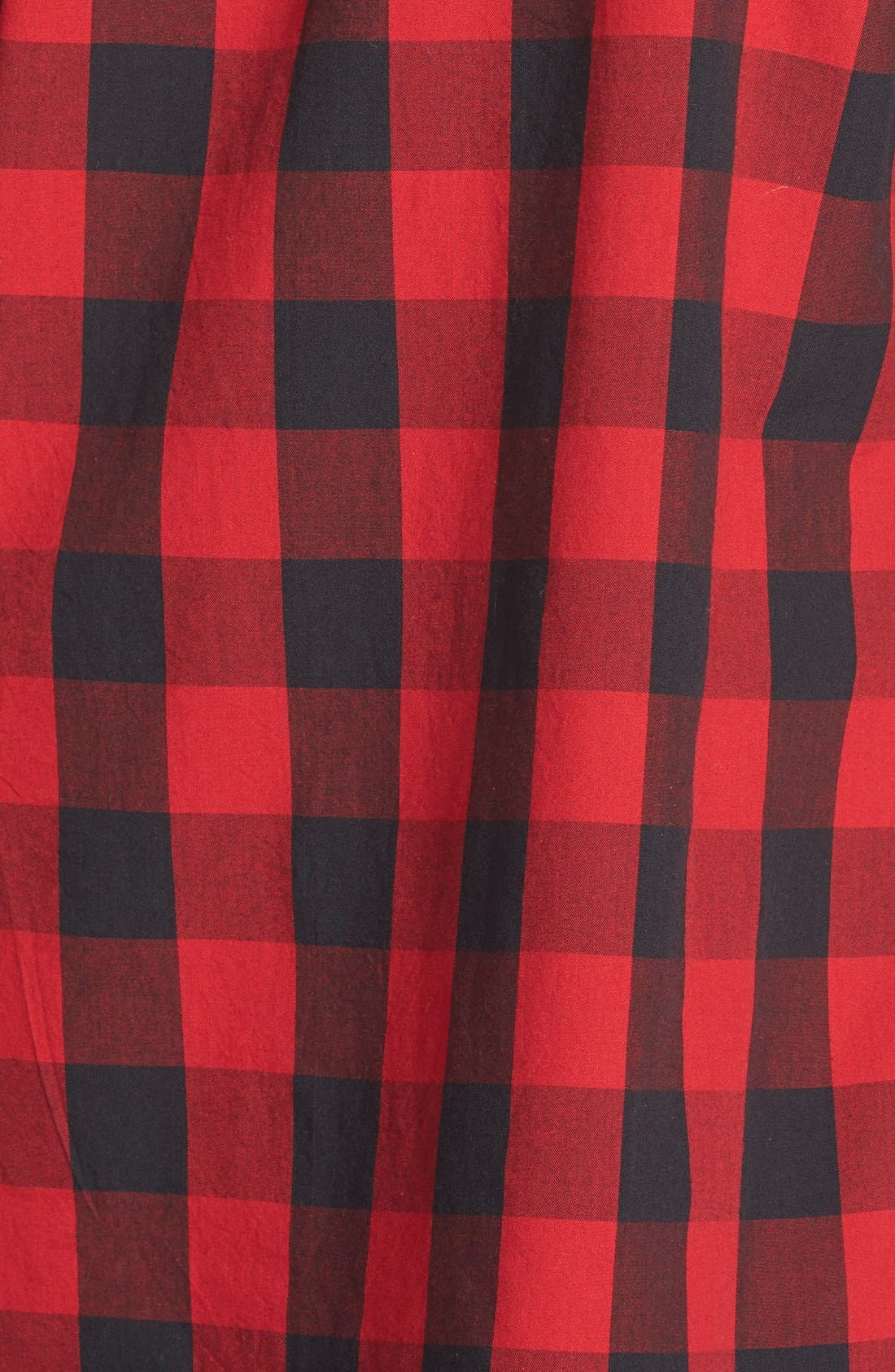 Buffalo Check Cotton Shirt,                             Alternate thumbnail 3, color,                             Red Multi