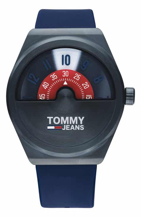 TOMMY JEANS Monogram Pop Silicone Strap Watch, 42mm