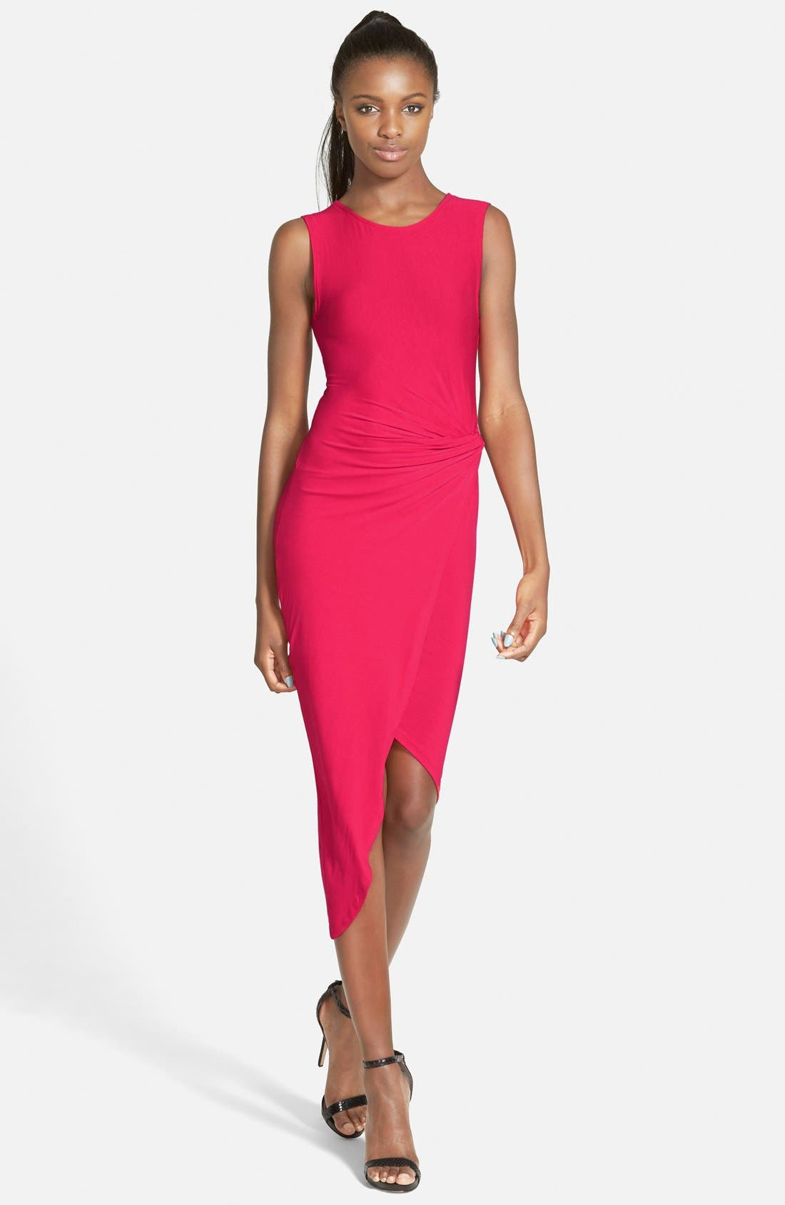 Main Image - ASTR Knotted Body-Con Dress