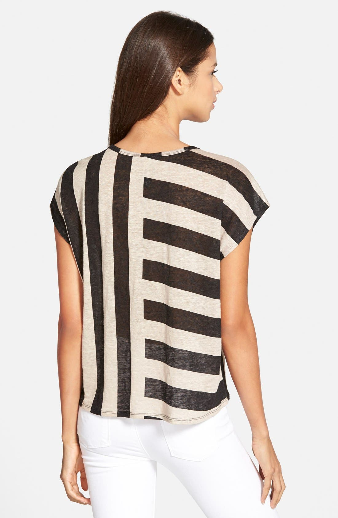 Alternate Image 2  - Plenty by Tracy Reese Stripe Linen Tee