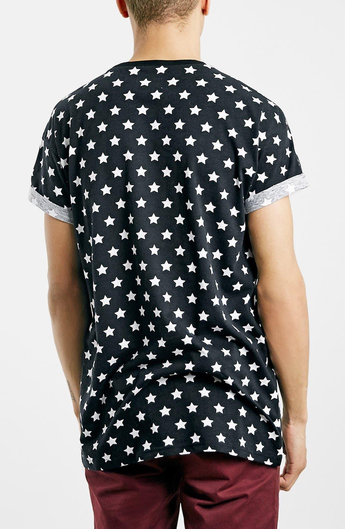 Alternate Image 2  - Topman Star Print Roller T-Shirt
