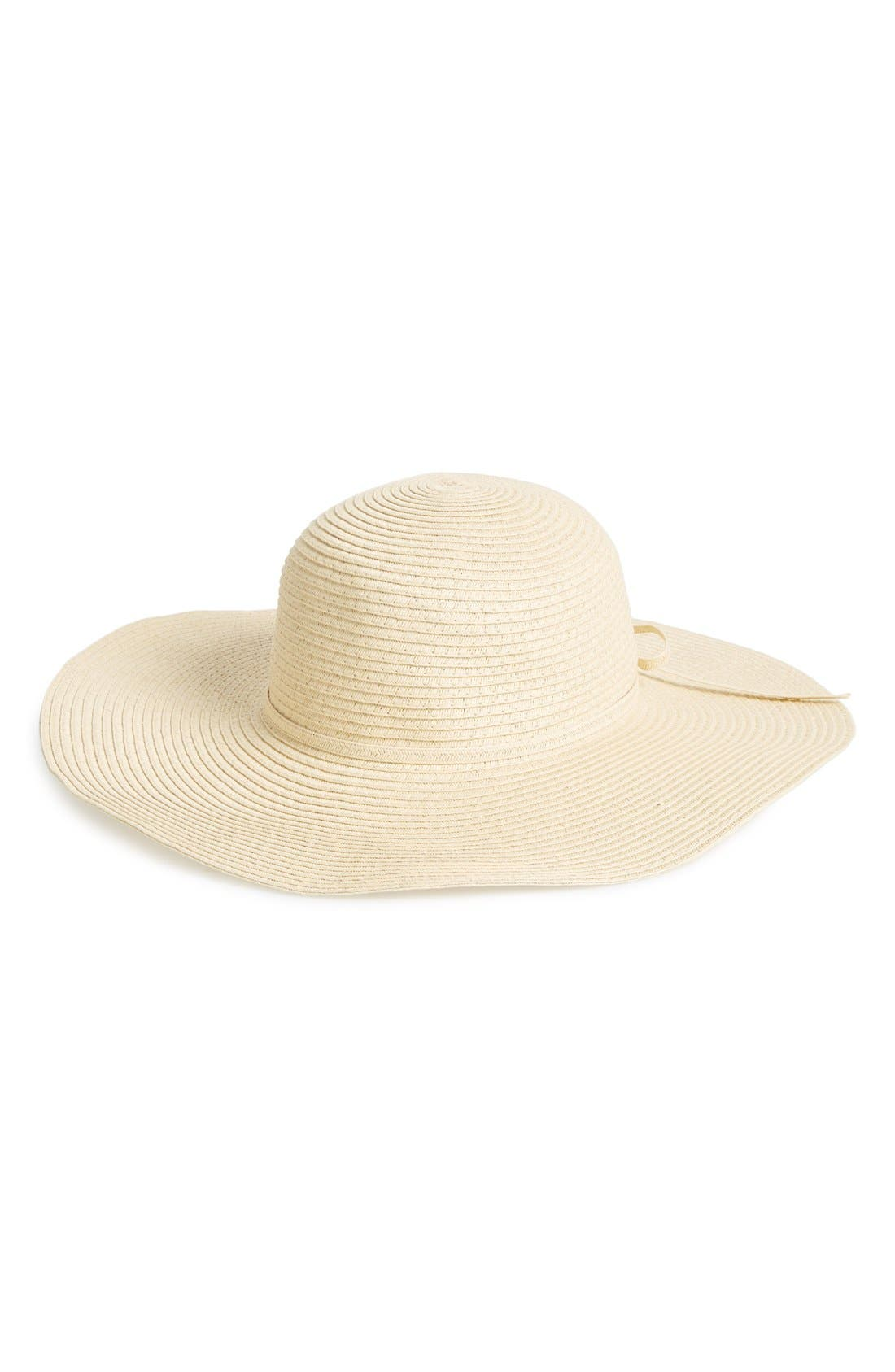 Alternate Image 1 Selected - Amici Accessories Floppy Straw Hat (Juniors)