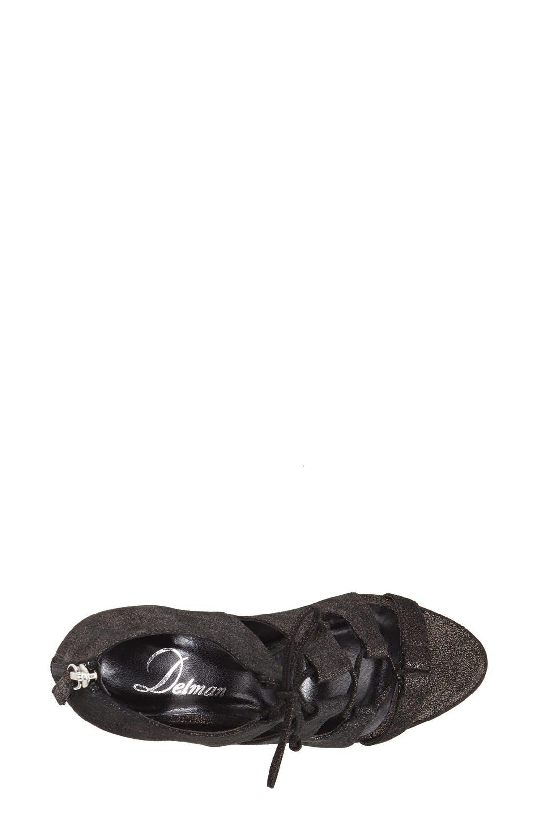 Alternate Image 3  - Delman 'Jolie' Lace-Up Sandal (Women)