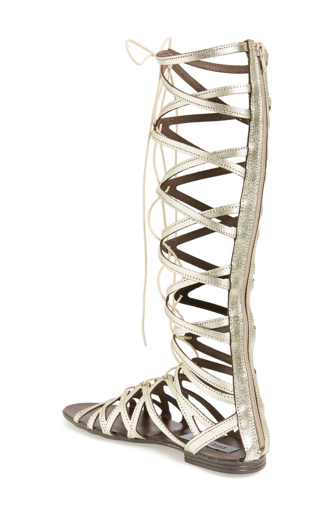 'Hercules' Gladiator Sandal,                             Alternate thumbnail 2, color,                             Metallic Gold Leather
