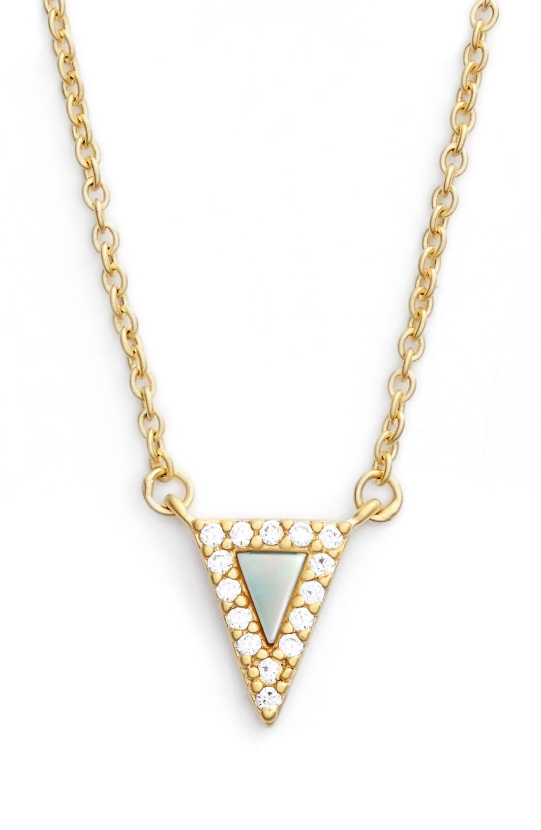Alternate Image 1 Selected - FREIDA ROTHMAN 'Visionary' Small Triangle Pendant Necklace