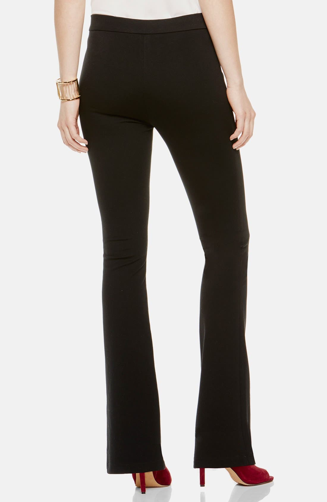 Flare Leg Pants,                             Alternate thumbnail 2, color,                             Rich Black
