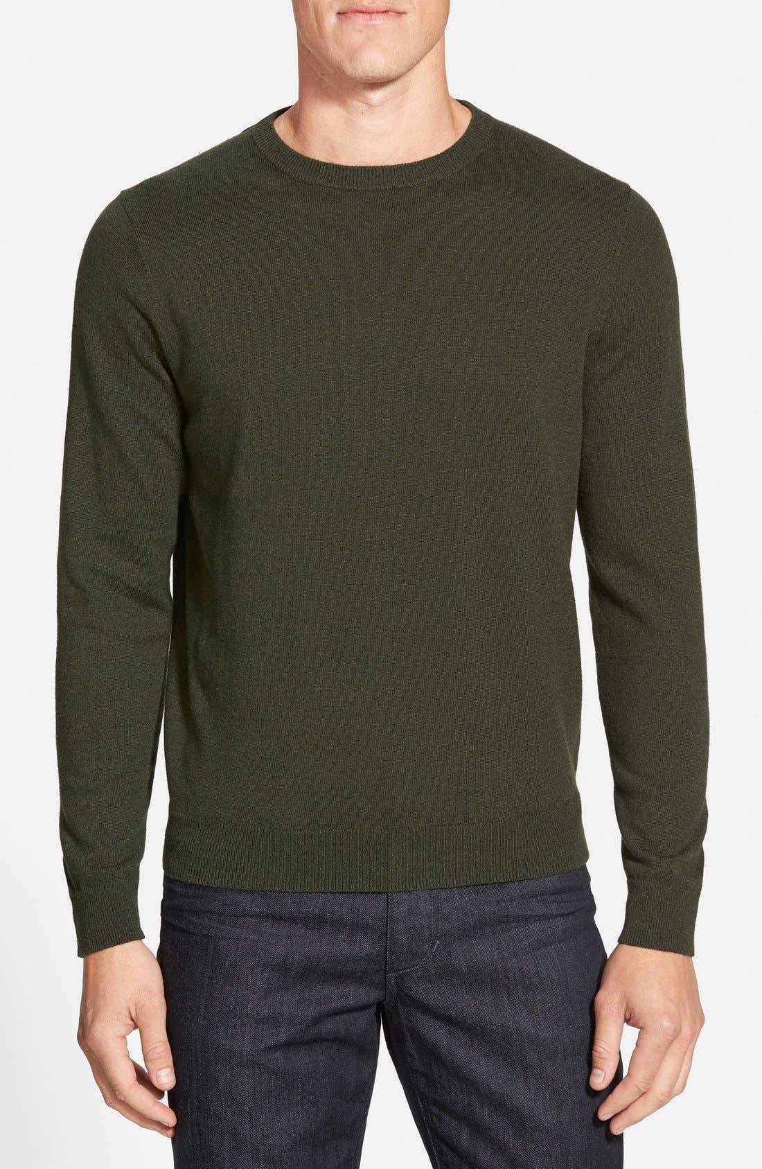 Nordstrom Men's Shop Cotton & Cashmere Crewneck Sweater (Regular & Tall)