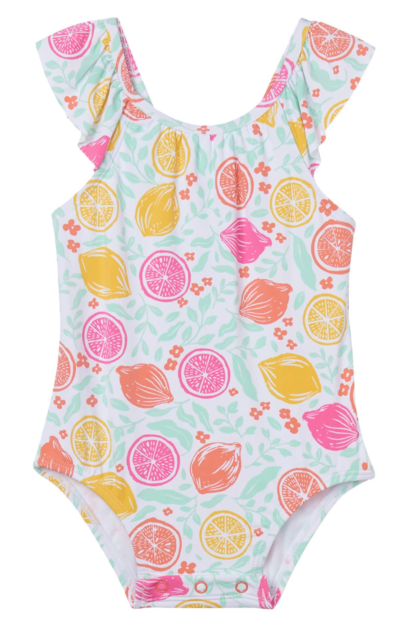 LNGRY Baby Swimwear,Toddler Teen Kids Girls Cartoon Swan Ruffle Zipper Long Sleeve Sunproof One-Piece Swimsuit