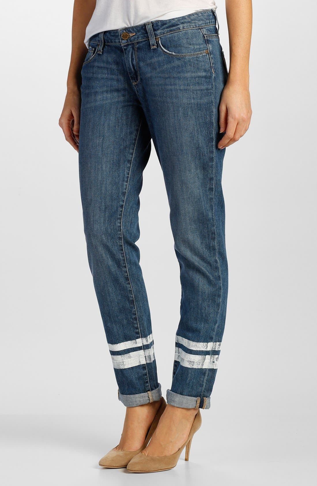 Main Image - Paige Denim 'Jimmy Jimmy' Boyfriend Jeans (Painted Stripe)