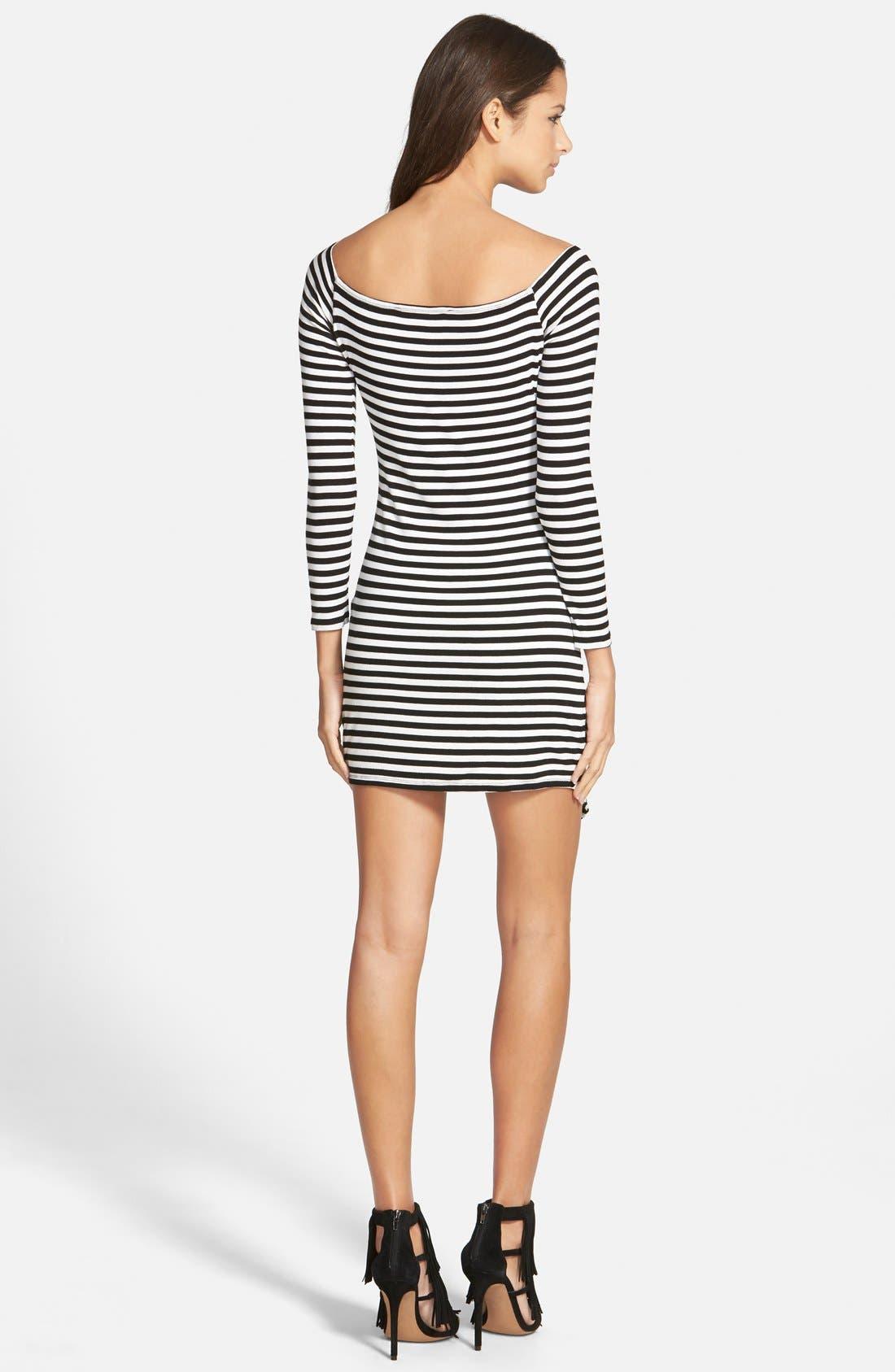 Alternate Image 2  - Lovers + Friends 'Sweet' Stripe Body-Con Dress