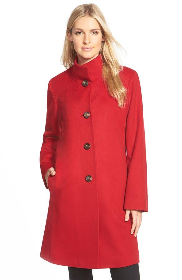 Fleurette Cashmere Stand Collar Car Coat (Regular & Petite ...