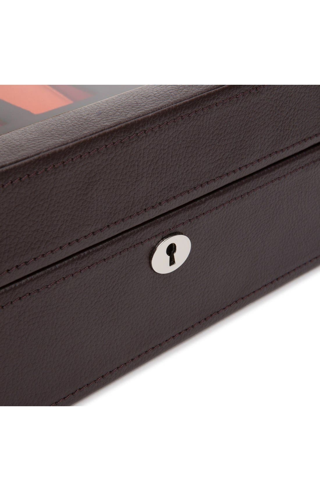 Windsor Watch Case,                             Alternate thumbnail 3, color,                             Brown/ Orange