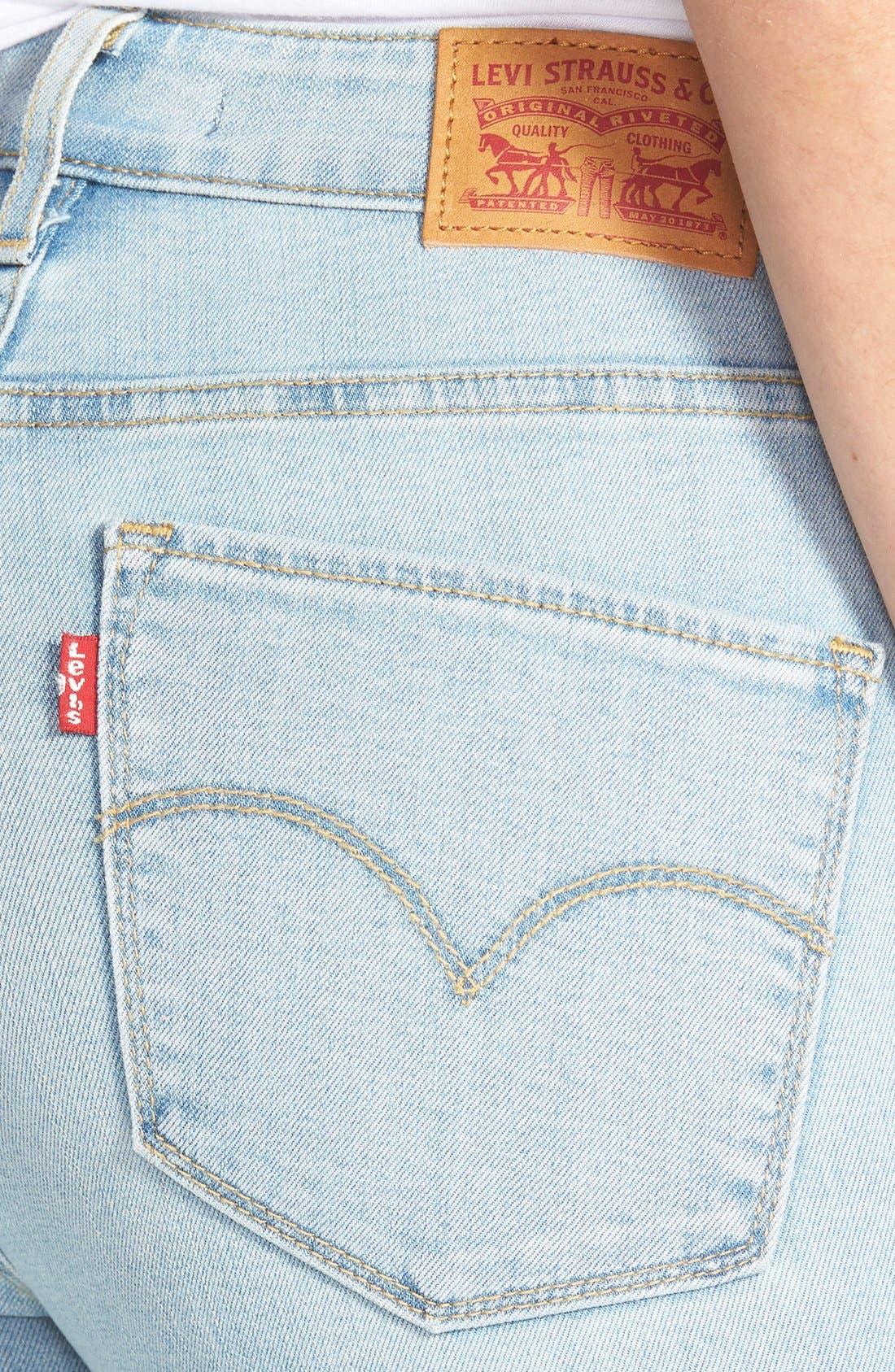 Alternate Image 3  - Levi's® '721' High Rise Skinny Jeans (Light)