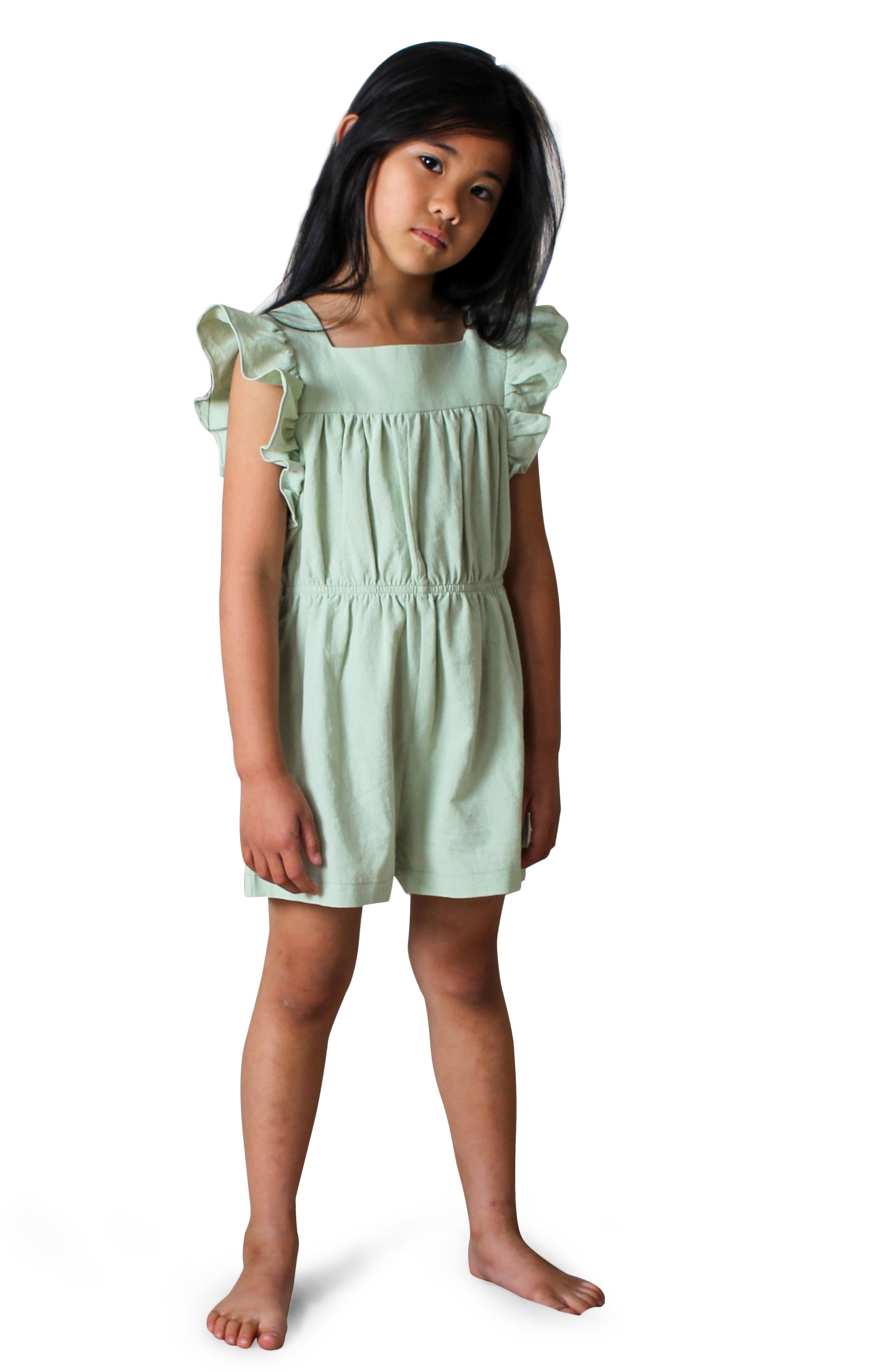2T Crocheted Sleeveless Toddler Dress Grey Cream Green